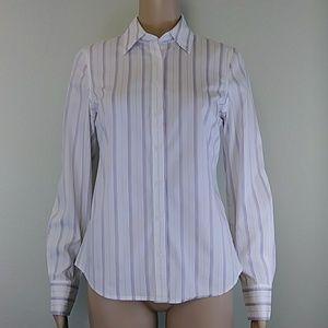 [Izod] Purple Striped Button Down Small